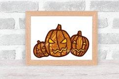 Halloween SVG 3D Layered | Multi Layer Pumpkin SVG |Cut File Product Image 3