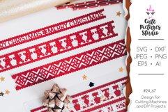 Christmas ornaments Cricut SVG bundle, Christmas ribbon SVG Product Image 2