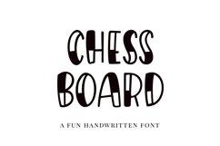 Chessboard, a playful handwritten font Product Image 1