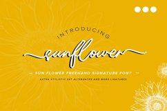 Sunflower   Freehand Signature Font Product Image 1