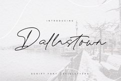 Dallastown - Script Font Product Image 1