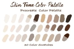Skin Tone Color Palettes,Skin Color, Procreate Palettes Product Image 1