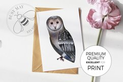 Watercolor Animals Birds Butterflies Nordic Wildlife Bear Product Image 5