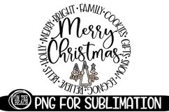 Merry Christmas - Sublimation Pastel Glitter Christmas PNG Product Image 1