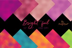 Colorful foil digital papers Product Image 3
