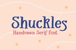 Shuckles - Handrawn Serif Font Product Image 1