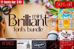 Mini brilliant Font bundle - 11 Creative Fonts Product Image 1