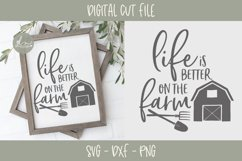 Life Is Better On The Farm - SVG, DXF & PNG Product Image 1