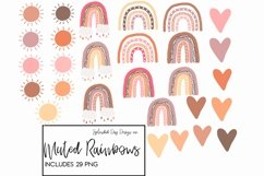 Muted rainbows clipart collection, fall rainbows Product Image 2