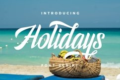 Holidays Typeface Product Image 1