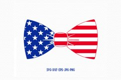 Patriotic Bow tie svg, Fourth of July SVG, 4th of July Svg, Patriotic SVG, America Svg, Cricut, Silhouette Cut File, svg dxf eps Product Image 1
