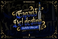 Espada Del Destino | blackletter type Product Image 1