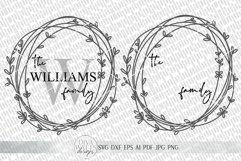 Monogram Wreath SVG | Farmhouse Sign SVG | dxf and more Product Image 3