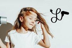 Web Font Hairdresser - Hair stylist - Monogram Font Product Image 2