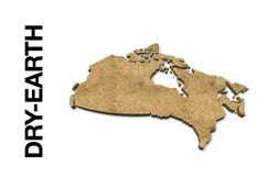 CANADA 3D Maps Images Dry Earth Snow Grass Terrain Product Image 2