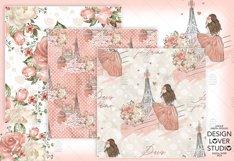 Paris je t'aime digital paper pack Product Image 3