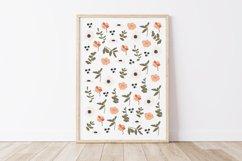 Boho Flower Wall Art, Boho Flowers Set, Flower Wall Print Product Image 1