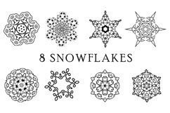 Snowflake SVG Silhouettes. 16 snowflake svg Product Image 3
