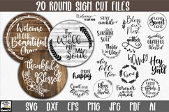 Round Sign Bundle - Round SVG Files - Farmhouse Signs Product Image 1
