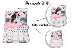 SELF CARE Clipart, Stay Home Fashion Illustration Product Image 6