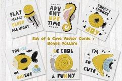 Cartoon Sea Animals - vector cards Product Image 1