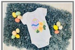Floral Easter Egg SVG Cut File Product Image 2