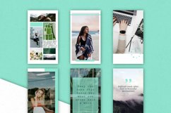 Mint   Instagram  stories templates Product Image 5