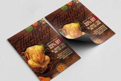 Thanksgiving A4 Flyer & BONUS! Product Image 2