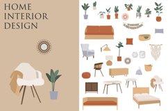 Bohemian Decor Illustrations, interior design, furniture cli Product Image 1