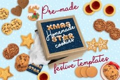 Xmas cartoon cookie font family Product Image 5