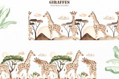 Giraffes. Watercolor collection Product Image 8