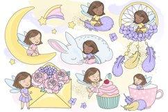 SPARKLING FAIRY Glitter Color Vector Illustration Set Product Image 2