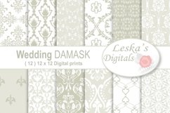 Wedding Damask Pattern Digital Paper Product Image 1