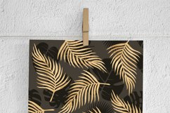 Brown & Gold Palm Leaf Patterns Product Image 3
