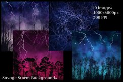 Savage Storm Backgrounds - 10 Image Textures Set Product Image 2