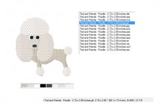 POODLE Embroidery Design in 2 sizes Product Image 2