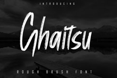 Ghaitsu - Rough Brush Font Product Image 1