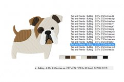 BULLDOG Embroidery Design in 2 sizes Product Image 3