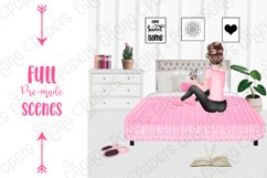 STAY HOME CLIPART - Fashion Girl Planner Graphics Product Image 8