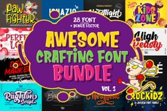 Awesome Crafting Font Bundle Vol. 3 Product Image 1
