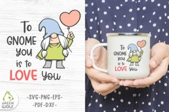 Girl gnome svg Valentine sublimation gnomes design Gnome png Product Image 1
