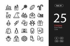Christmas Icon Line SVG, EPS, PNG Product Image 1