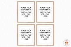 Wood Frames Mockup Bundle, Poster Mockup Digital Frames Product Image 3