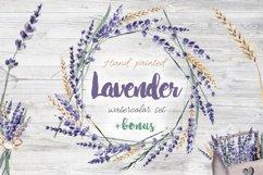 Lavender Watercolor Set Clipart Product Image 1