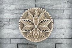 Layered Mandala SVG, Cut file Mandala, Flower mandala, Lotus Product Image 1