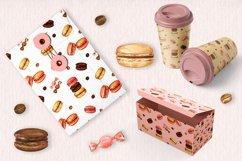 Sweet Macarons Seamless pattern/ digital paper, jpg, png Product Image 2