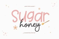 Sugar Honey - Handwritten Font Duo Product Image 1