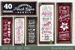 Christmas porch signs bundle SVG Vertical signs SVG Bundle Product Image 4