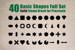 Procreate Brush stamp, Basic Shapes Stamp Brushes Product Image 2