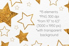 Gold stars clipart Invitation card design Gold foil stars Product Image 2